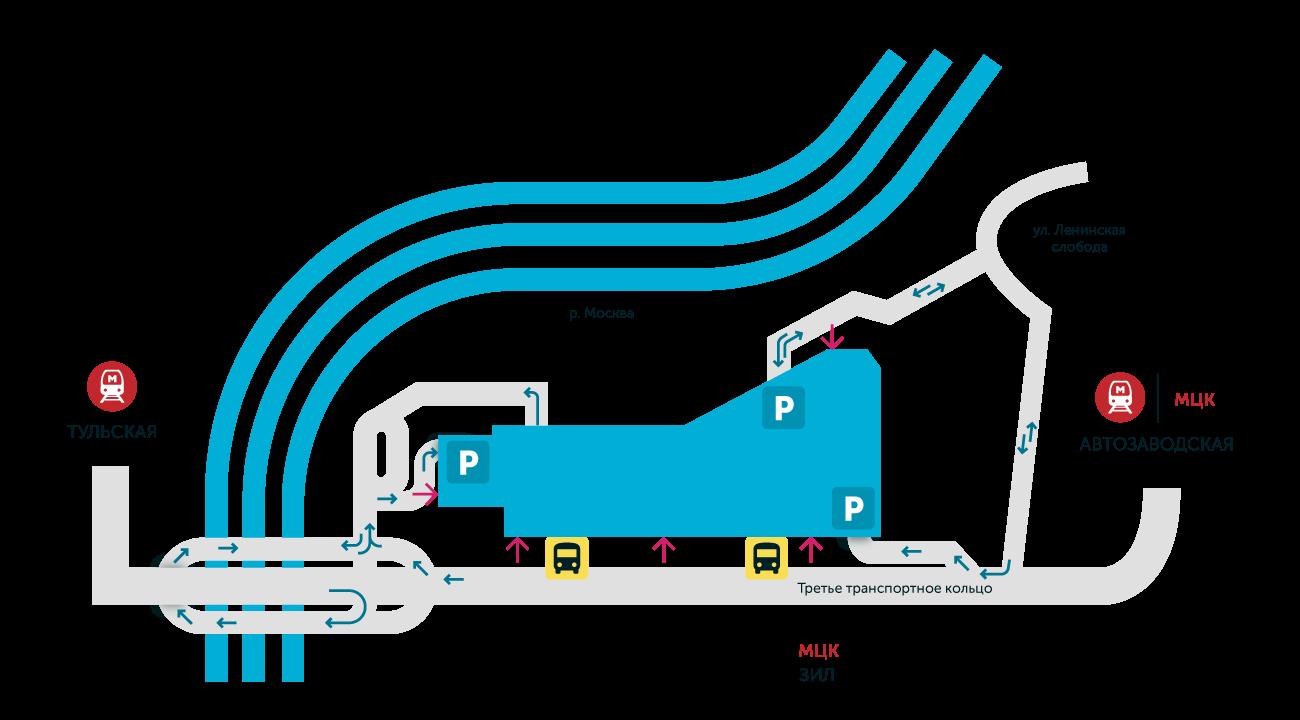 Карта подъезда к Ривьере